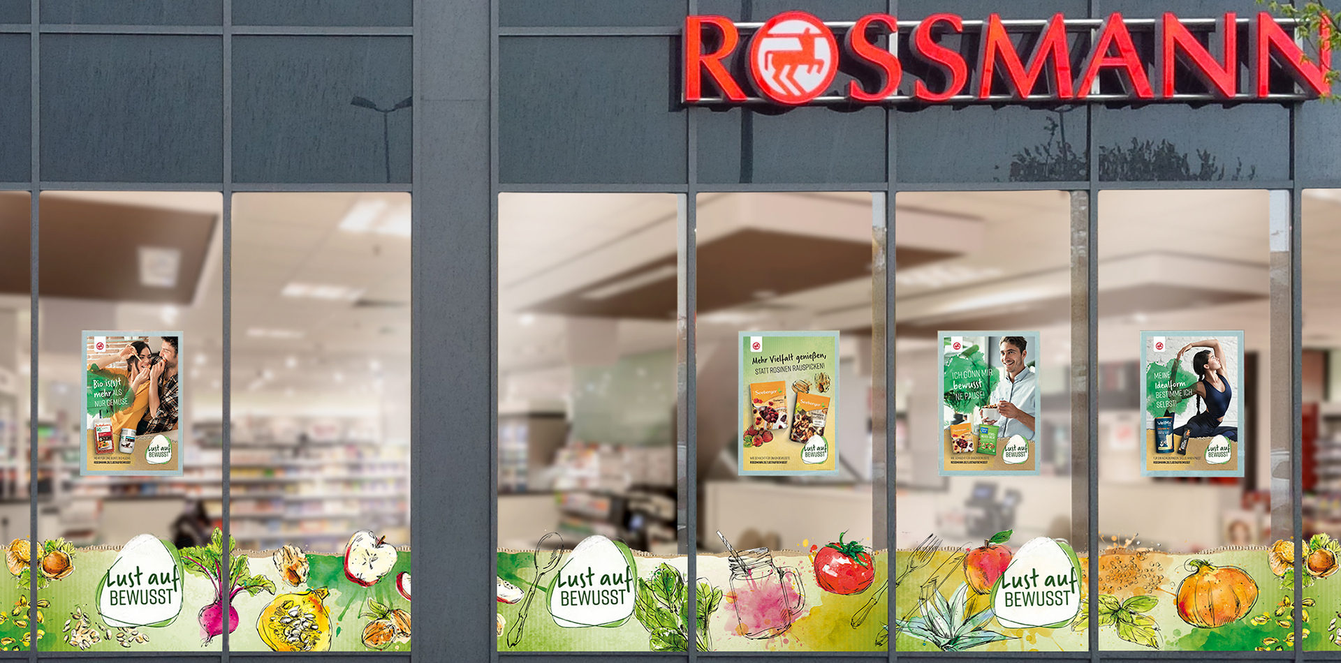 Cross media POS campaign – new, four times a year